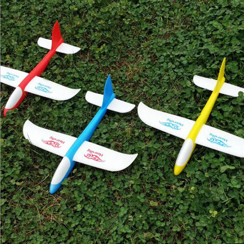 Model EPP Airplane Wings Hand Launch Fly High Quality Glider Plane Random Color HT3929 .
