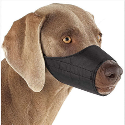 Mouth Cover Nylon Pet Dog Muzzle Fabric Adjustable Guardian Gear No Bite7 Size .
