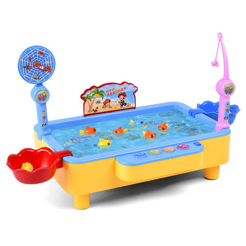 Multi-function Parent-child Play Toys Fishing Electric Toys Blue/pink .