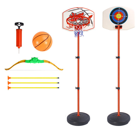 Multi-functional Adjustable Basketball System Suits Basketball Hoop with Bow and Arrow