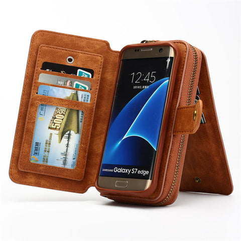 Multifunction Wallet phone Case For Samsung S4/5/6/7/s7/s8 EDGE/NOTE 4/5/8 for iphone 5 SE