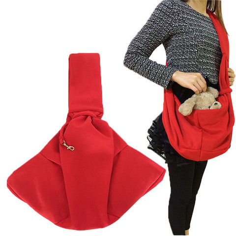 NEW cotton fashion Multifunctional Pet Dog Cat Shoulder Bag Reversible Magic Bag Soft Warm