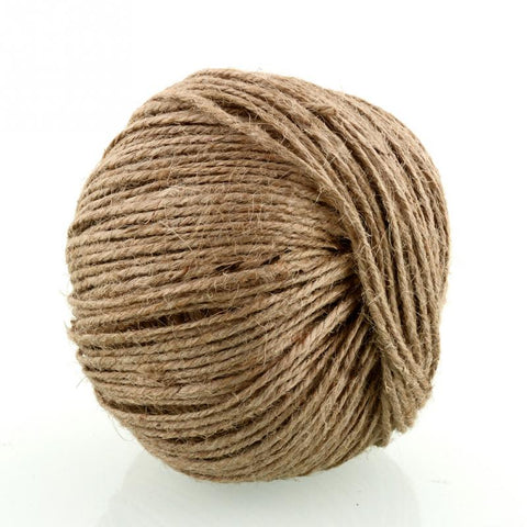 NEW natural jute rope 2mm Soft 100M Natural Jute Twine Gift box String Rope Floral Craft