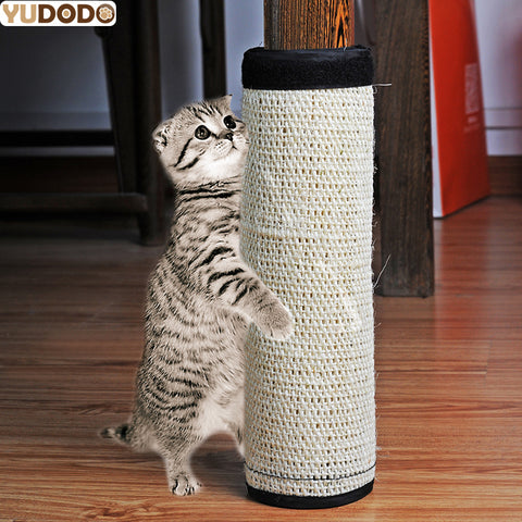 Natural Non-toxic Sisal Hemp Cat Scratching Post Protecting Furniture Grinding Claws Cat
