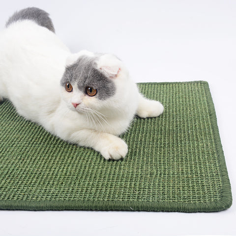 Natural Sisal Cat Scratcher Board Lounger Scratching Post Mat Toy for Tower Climbing