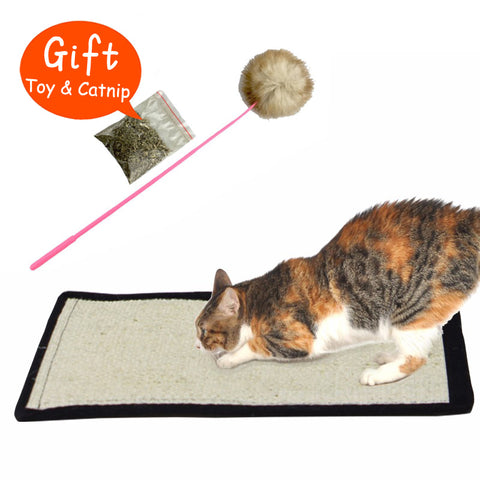 Natural sisal cat scratching post Mat toy for cats catnip tower climbing tree Cat