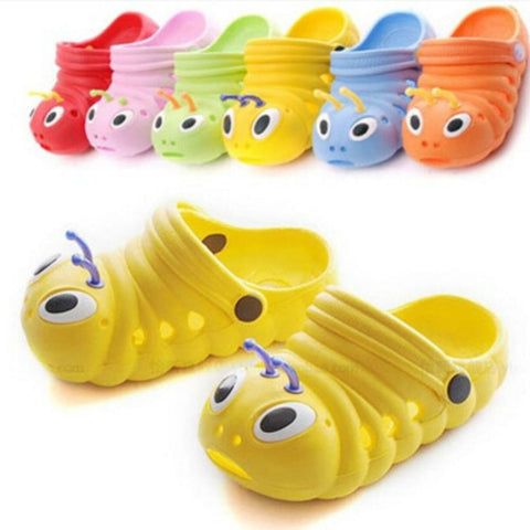New Kids summer sandal Cute caterpillar garden shoes Child boys and girls baby sandals
