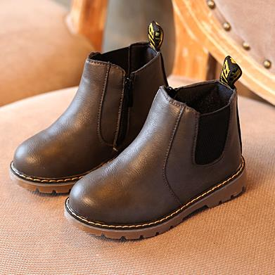 Boots for Girls New Winter Children Shoes PU Leather Snow Boots kids Warm Boys Warm Boots Girl Platform