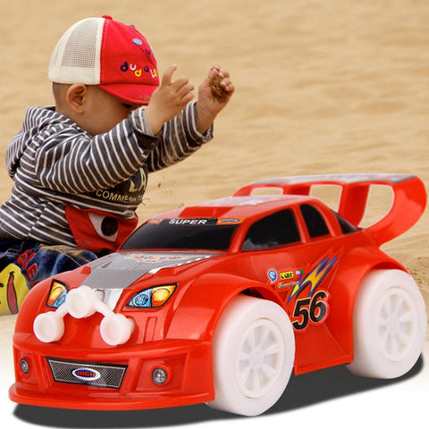 New Arrival 1PC Automatic Steering IPL/LED Wheel Music Racing Car Electric Toy &Wholes