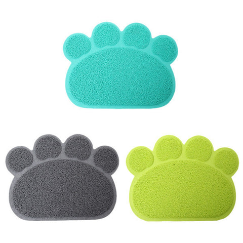 New Arrival 1pc 3 Colors Cute Paw Shape Pet Dog Cat Puppy PVC Foot Mat For Dogs Cats
