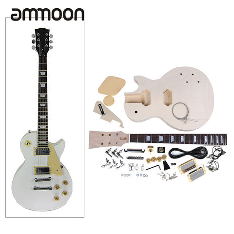 New Arrival! High Quality Electric Guitar DIY Kit Set Mahogany Body Rosewood Fingerboard