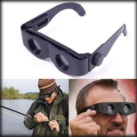 New Arrival high quality Portable Glasses Style Telescope Magnifier Binoculars For Fishing