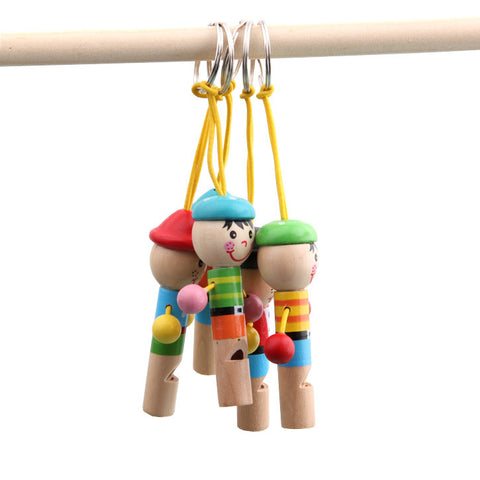 New Cartoon Cute For Baby Wooden Toy Mini Whistle Pirates Developmental Toy Musical