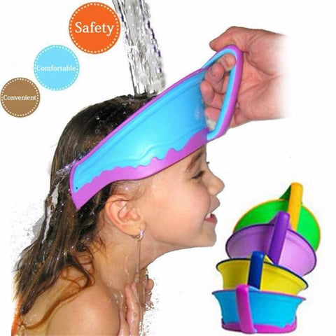 New Kids Bath Visor Hat,Adjustable Baby Shower Cap Protect Shampoo, Hair Wash Shield for
