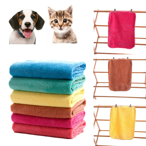 New Pet Dog Cat Water Soft Towel Quickly Dry Wrapped Towel Pet Accessory F901 .