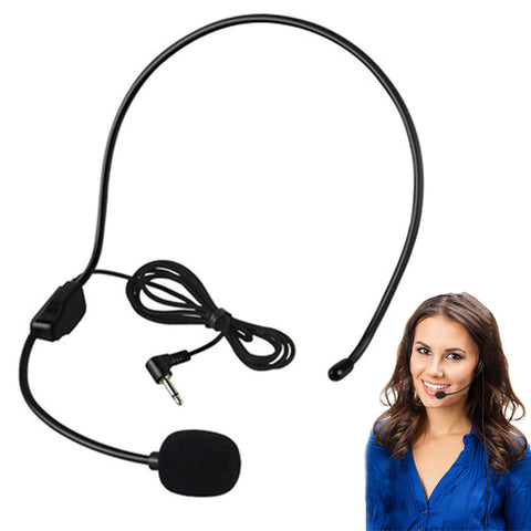New Portable 3.5MM Wired Microphone Headset Studio Conference Guide Speech Speaker Stand