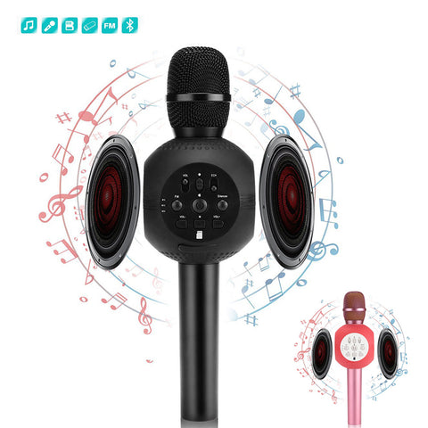 New Portable Wireless Karaoke Microphone Handheld X7 Cellphone Player Speaker Support