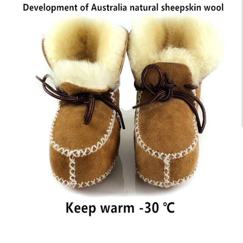 Boots for Boys New arrived Hot sell Australia Wool Winter infants warm shoes fur girls baby Moccasins