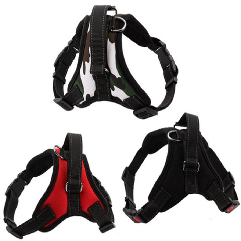 New hot Medium and large dog harness vest Reflective tape yarn Breathable and
