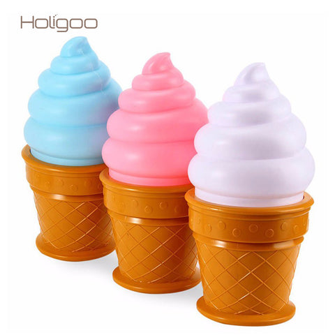 Novelty Ice Cream Cone Bedroom Attractive LED Atmosphere Night Light For Kids Gift