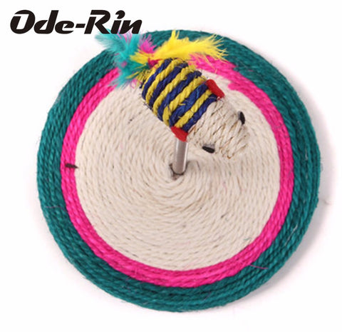 Ode-Rin The funny cat toys Spring rat sisal cat scratch board Pet toys pet Resistant
