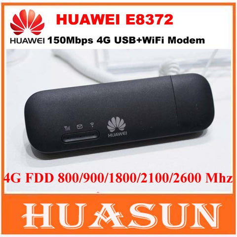 Original Unlocked 150Mbps Huawei E8372 E8372h-153 4G LTE Wifi Modem dongle CAT4 USB