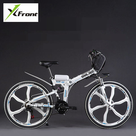 Original X-Front brand 48V 350W Lithium Battery Electric folding Mountain Bike SHIMAN0