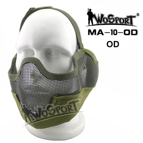 Outdoor Airsoft Steel Wire Mesh Half Face Mask Outdoor Sport Tactical Airsoft Paintball CS