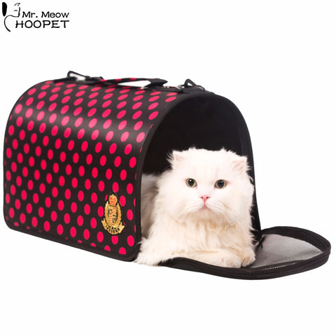 Outdoor Pet Carrier Cat Kitten Kennel Cab Airline Approved Traveling Shoulder Bag Dog