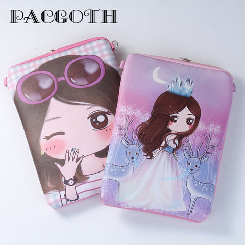 PACGOTH New Cute Character Figure Coin Purses Key Wallets for Girls Zipper Mini