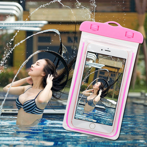 PVC Waterproof Diving Bag For Mobile Phones Underwater Pouch Case For iphone 5s 6 6s 6plus