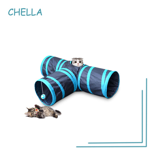 Paper Cat Tee Ring Channel Pet Cat Tunnel Drill Folding Tent Nest Cat Toy Dog Interior