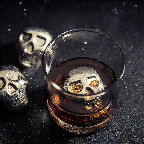 Personality 304 Stainless steel Skull Ice Cubes Whiskey Ice Drink Wiskey/wine/beer