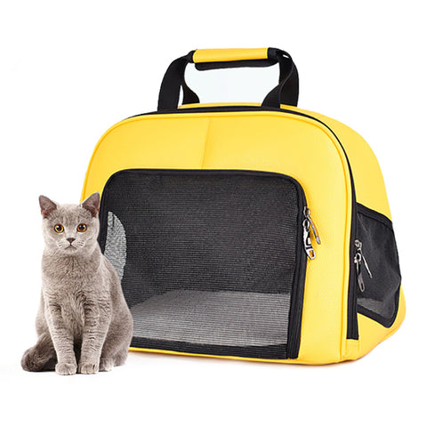 Pet Cat Carrier Foldable Travel Bag Breathable Outdoor Handbag Pet Production for Cats Dog