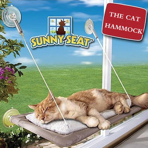 Pet Cat Hammock Bed Window Cats Perch Cushion Bed MatHanging Shelf Seat Great for Cats