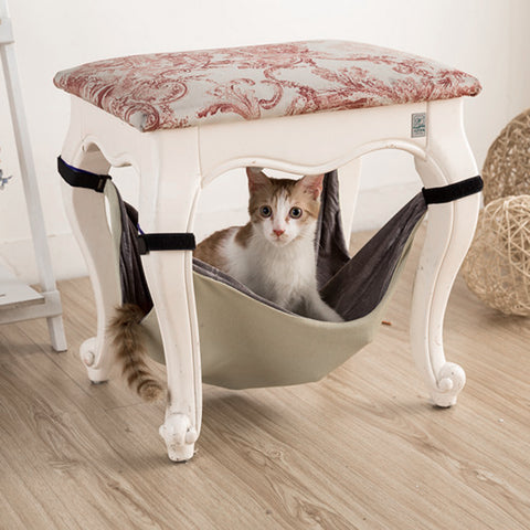Pet Cat Hammock Kitten Mercerized Velvet Hammock Bed Animal Hanging Dog Cage Comforter