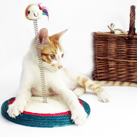 Pet Cat Toy Cat House Swinging the Ball Cat Furniture&Scratchers Cat Tree Scratch Toy