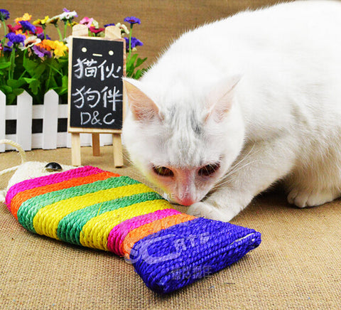 Pet Cat Toy Fish Shape Cat Scratch Board .