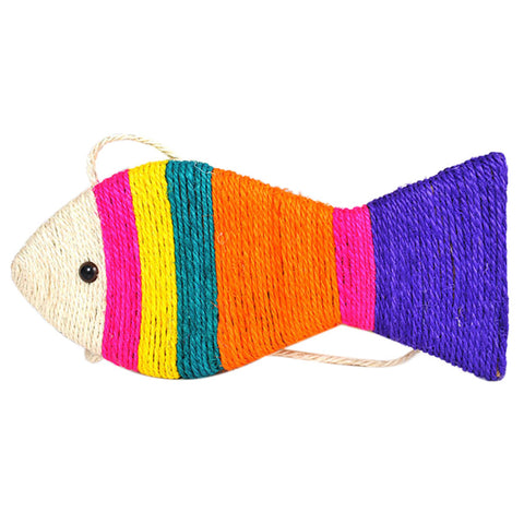 Pet Cat Toys Funny Cat Scratch Toy Cat Sisal Toys Scratching Post Fish Styles .