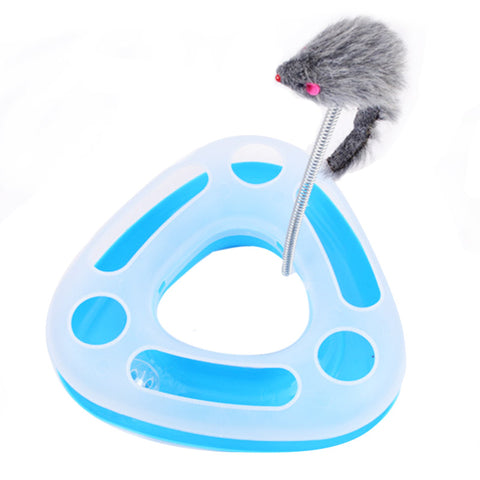 Pet Cat Toys Single-layer Multifunctional Disk Play Activity Cat Toys Funny Kettle Mice