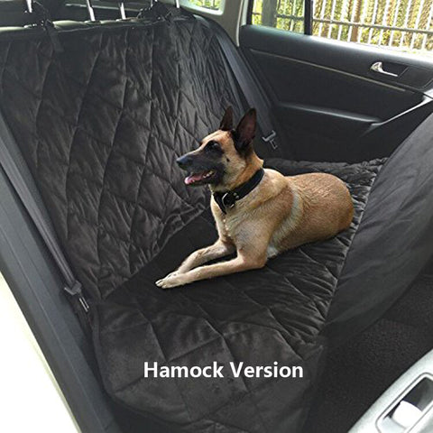 Pet Dog Car Rear Bench Back Seat Cover Mat waterproof Hammock style and Back Cover of