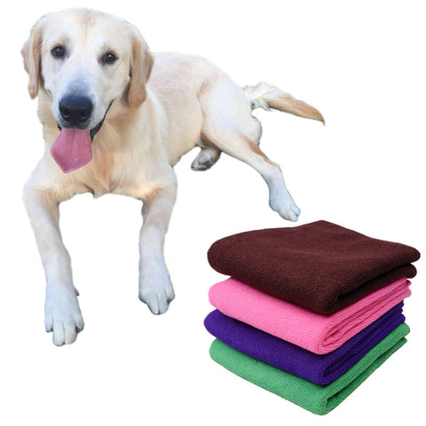 Pet Dog Cat Drying Towels Ultra-absorbent Bath Towel Cleaning Necessary Fast Drying for
