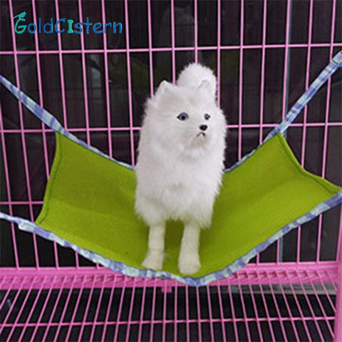 Pet Hammock Mesh fabric Rat Summer Waterproof Cat Hammock Soft Cat Bed Small Animal Pet