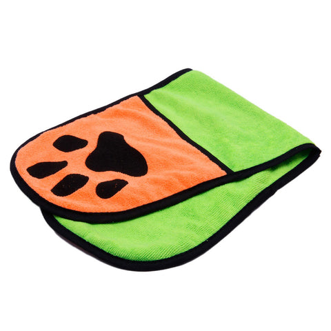 Pet Quick Drying Fiber Towel Ultra-Absorbent Dog BathShower Cleaning Handkerchief