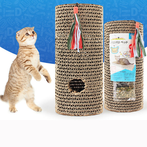 Pet Round Toy Funny Catch Cat Kitten Rabbit Corrugated Cat Scratch Board .
