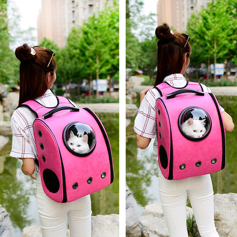 Pet Space Capsule Astronaut Cat Carrier Backpack Bubble Window for Cat Puppy Small Dog