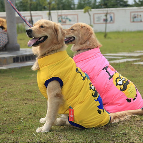 Pet clothes Yellow people Golden retriever samoyed husky big dog clothes autumn winter