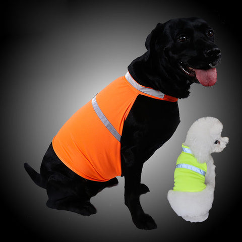 Pets Fluorescent Security Dog Reflective Vest Clothes Safety Luminous Waterproof Pet