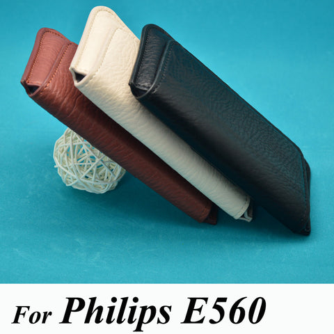 Phone Case For Philips Xenium E560 PU leather luxury pouch flip waist bag cover phone
