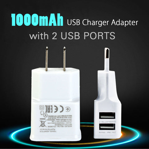 Phone Charger W/ Dual USB 2 Ports Adapter Wall Charging For Smartphone Charger For